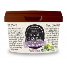 Royal Green Herbs de Provence Cooking Cream (Organik Çeşnili Hindistan Cevizi Yağı) 250 ml